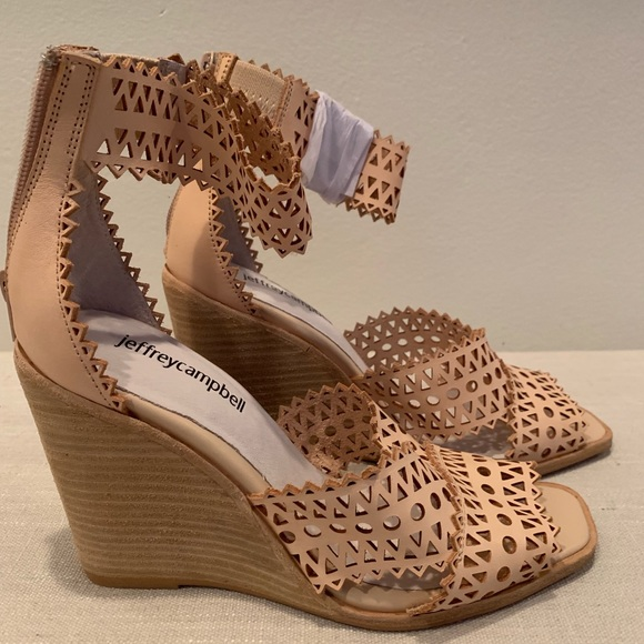 Jeffrey Campbell Besante St Wedge Sandals 6.5 NWT